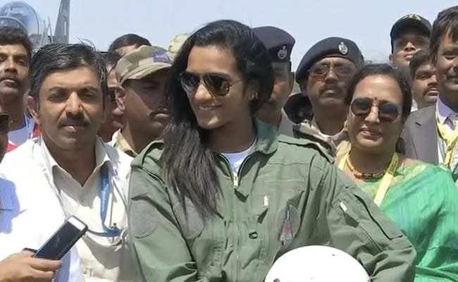 Image result for P.V. Sindhu flies in HAL's Tejas in Bengaluru