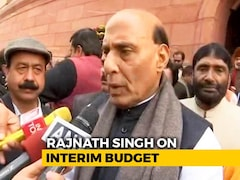 "Video: Union Minister Rajnath Singh Praises Budget 2019, Calls It ""Historic"""
