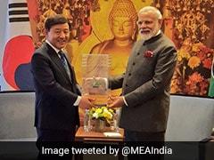 PM Modi Gifts Bodhi Tree Sapling To Mayor Of South Korean City