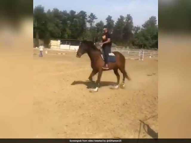 Watch: Shikhar Dhawan Learns Horse Riding Ahead Of Australia Series