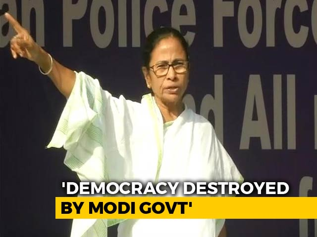 Video: 'Modi Ji Won't Return To Power In 2019,' Says Mamata Banerjee At Sit-In