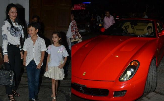 Sanjay Dutt's Son Shahraan Looks Happy In His Dad's Flashy Red Ferrari