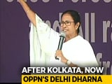 Video : Mamata Banerjee In Delhi For Opposition's Big Show Of Strength Today