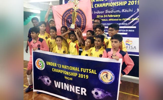 तेलंगाना की अंडर 13 टीम फुटसाल नेशनल चैंपियन