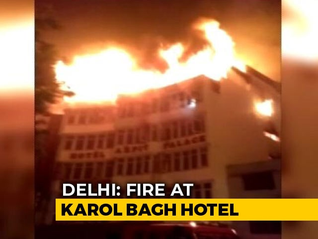 Video : 17 Killed In Fire At Hotel In Delhi's Karol Bagh, Man Seen Jumping Off Terrace