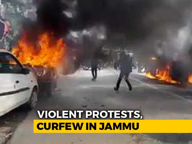 Video : Violent Protests In Jammu Over Pulwama Attack, Curfew On, Army On Standby