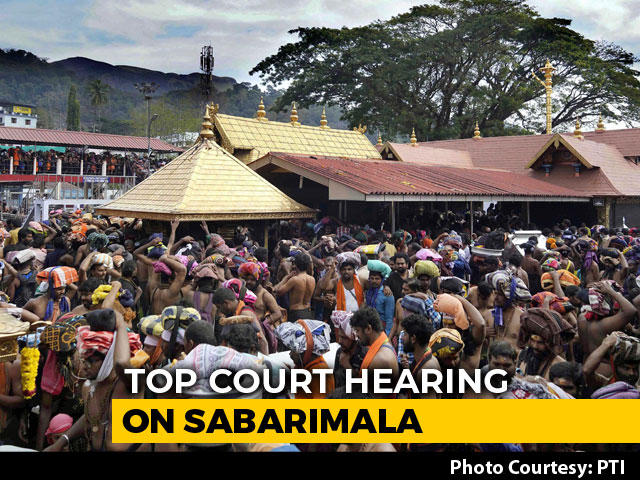 "Video : ""Sabarimala Order Shouldn't Be Reviewed"": Kerala Government To Top Court"
