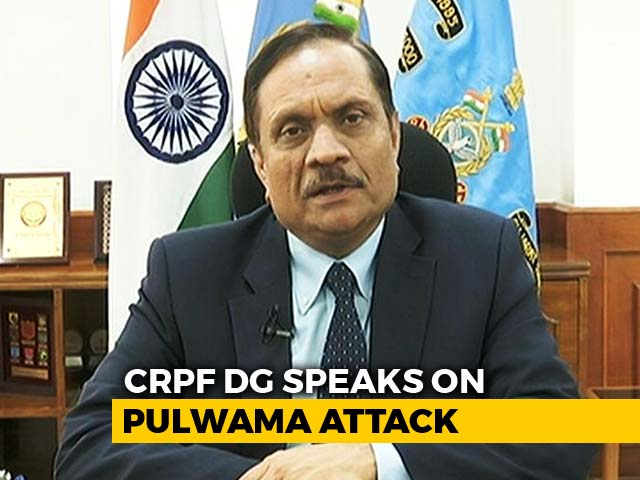 "Video : ""Sharing Inflammatory Material Anti-India"": Director General CRPF On Fake News"