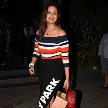 Like Parineeti Chopra, Upgrade Your Winter Look With An Off-Shoulder Pullover