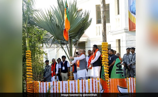 BJP Launches Outreach Campaign For Hoisting Party Flag At 5 Crore Houses