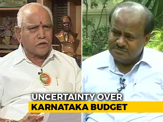 "Video : In New Karnataka Drama, HD Kumaraswamy Airs Audio Clips, BJP Says ""Fake"""