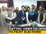 "Video : ""Getting Views On How To Win"": Priyanka Gandhi's Meet Ended At 5.30 am"