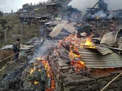 9 Houses Burn Down In Fire In Himachal Pradesh's Kullu