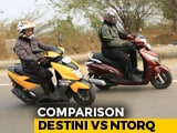 Video : Hero Destini 125 vs TVS NTorq 125 Comparison Review