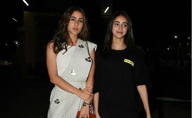 Sara Ali Khan And Ananya Panday Bond At Sonchiriya Screening. See Pics