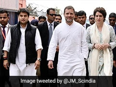 "<i>""Aa Dekhe Zara""</i>: Jyotiraditya Scindia's Tweet With Rahul Gandhi, Priyanka"