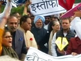 Video : Sonia Gandhi, Rahul At Rafale Protest Outside Parliament, Paper Jets Seen