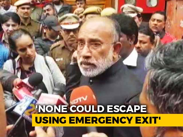 Video : Emergency Exits Were Shut At Delhi Hotel Where Fire Killed 17: Minister KJ Alphons