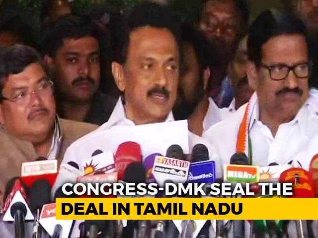 Video : Day After Rivals Tie Up, Congress, DMK Announce Alliance For Elections