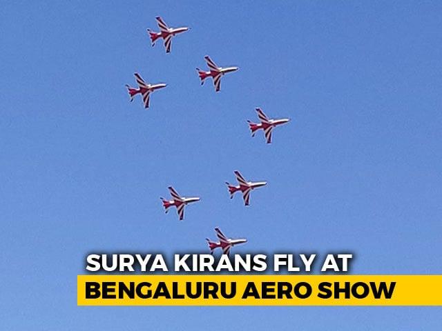 Video : Watch Surya Kiran Team's Spectacular Air Show In Bengaluru