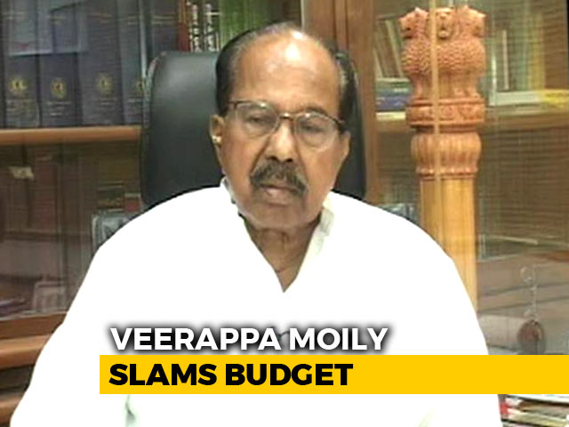 Video : Centre Wants To Hide State Of Economy: Congress' Veerappa Moily Slams Budget
