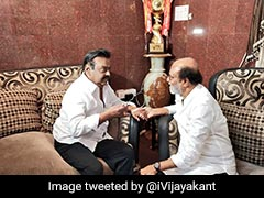 "Not A ""Single Drop Of Politics"" In Meet With Vijayakant, Says Rajinikanth"