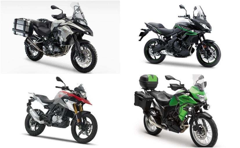 Benelli TRK 502 vs Kawasaki Versys 650 vs BMW G 310 GS vs Kawasaki Versys X-300 vs SWM SuperDual T: Specifications Comparison