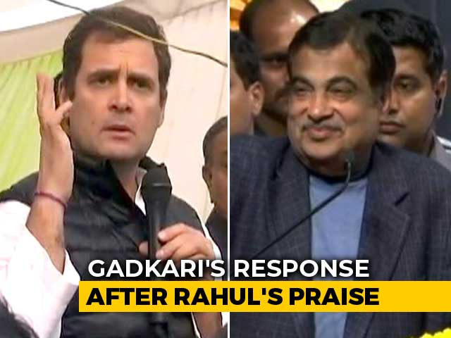 "Video : ""Only One In BJP With Some Guts"": Rahul Gandhi On Nitin Gadkari's Latest"