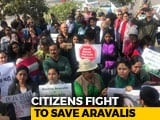 "Video : ""For Life And Lung"": Gurugram Residents March To Save Aravalli Forests"