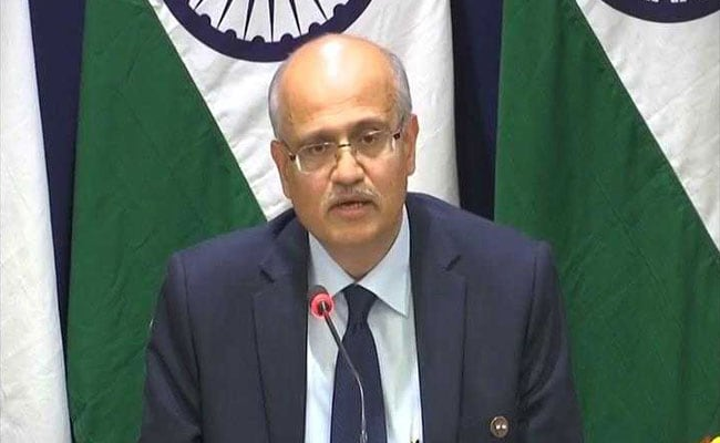 India Says Backs Deal Which Leaves No Space For Terrorists In Afghanistan