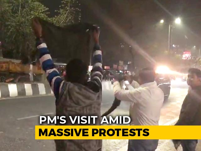 Video : PM Greeted With Black Flags In Guwahati, Protests May Intensify Today