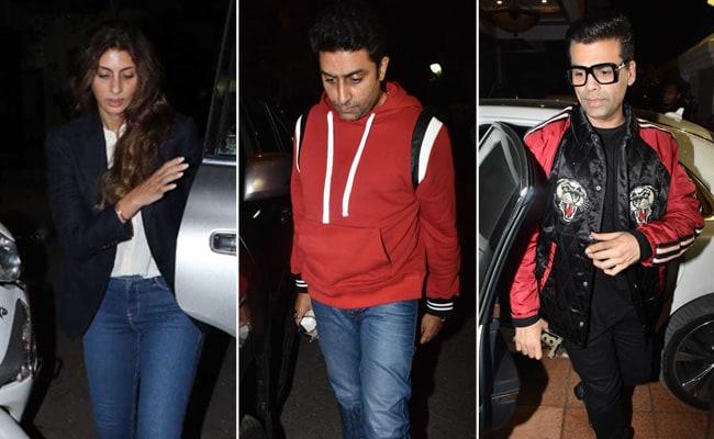 Abhishek Bachchan, Karan Johar Attend Ekta Kapoor's Son's Naming Ceremony