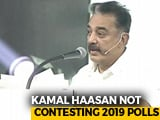 "Video : Not Contesting Lok Sabha Polls, ""All Candidates My Faces"": Kamal Haasan"