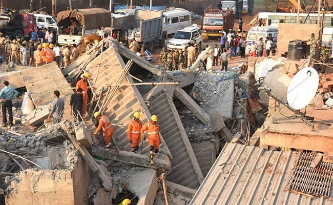 Number Of Deaths In Karnataka Building Collapse Now 7; 15 Still Trapped