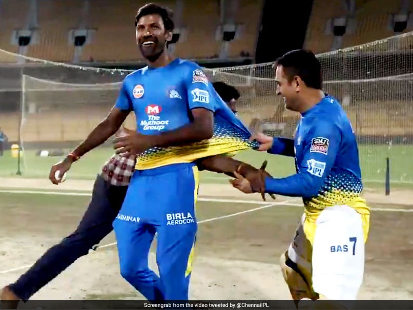 """Catch Me If You Fan"": MS Dhoni Makes Fan Chase Him During Chennai Super Kings"