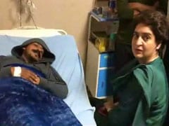 At Hospital, Bhim Army Chief Kept Priyanka Gandhi Vadra Waiting For 15 Minutes