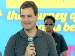 स्टूडेंट्स से संवाद के दौरान राहुल गांधी ने मुस्कुराकर एक छात्रा से कही ये बात,ठहाकों गूंज उठा हॉल, देखें VIDEO