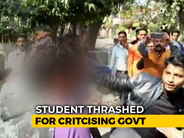 Video : On Video, UP Student Beaten, Called Terrorist For Complaining About Jobs