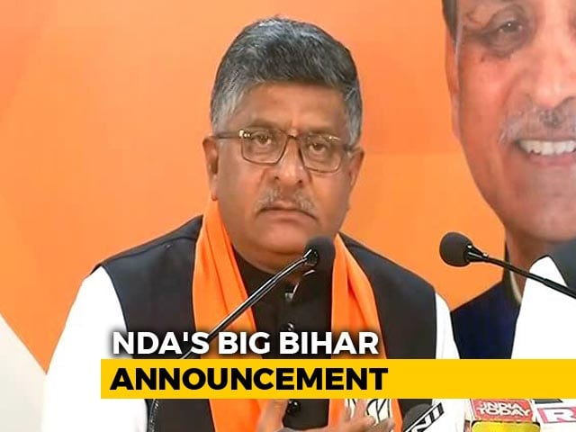 Video : Not Shatrughan Sinha, BJP Fields Ravi Shankar Prasad From Patna Sahib