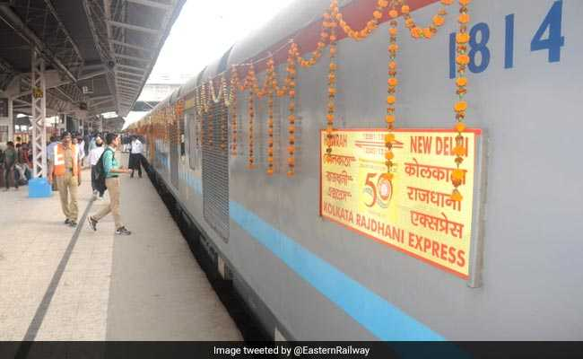 Flowers, Commemorative Stamps As Iconic Rajdhani Express Turns 50