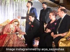 Sayyeshaa Saigal Marries Actor Arya, Saira Banu Blesses Grandniece