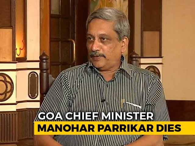 Video : Goa Chief Minister Manohar Parrikar Dies After Long Illness