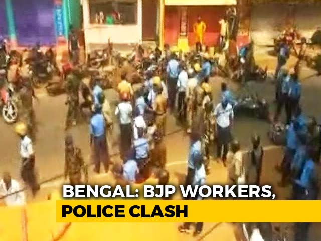 Video : Bengal BJP Activists Take Out Bike Rally Despite Ban, Clash With Police