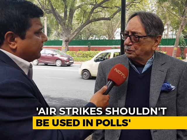"Video : ""Don't Politicise Air Strikes"": Ex-Spy Chief Amid Row On Terrorist Deaths"