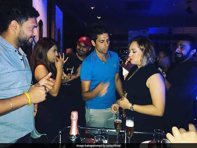 Yuvraj Singh Complains About Ashish Nehras Mischief On Wife Hazel Keechs Birthday. See Pictures