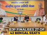 Video : BJP Finalises Candidates for 27 Of The 42 Seats In West Bengal: Sources
