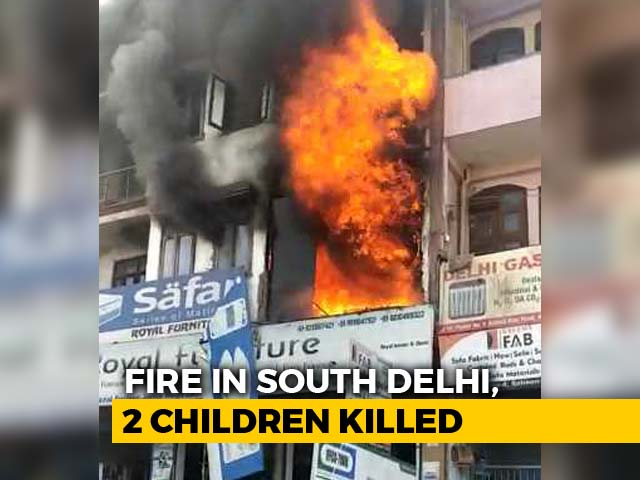 Video : Two Children Died After Fire Broke Out At A Residential Building In Delhi