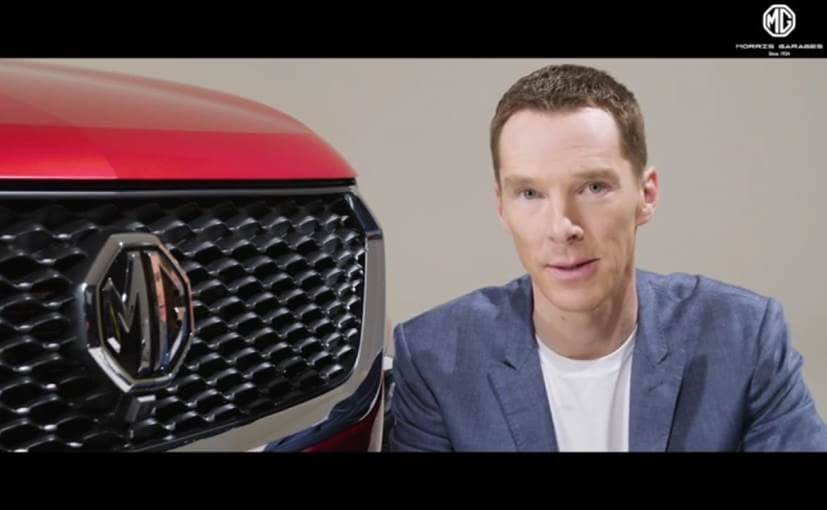 British actor Benedict Cumberbatch of The Avengers and Sherlock fame will be the face of MG India