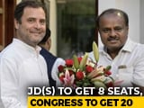 Video : Congress, HD Deve Gowda's Party Agree On 20-8 Seat Deal In Karnataka