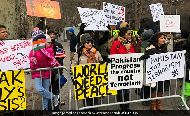 Indian-Americans Protest Against Pakistan For ''Sponsoring Terrorism''